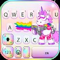 Unicorn Rainbow Gun Keyboard Background icon