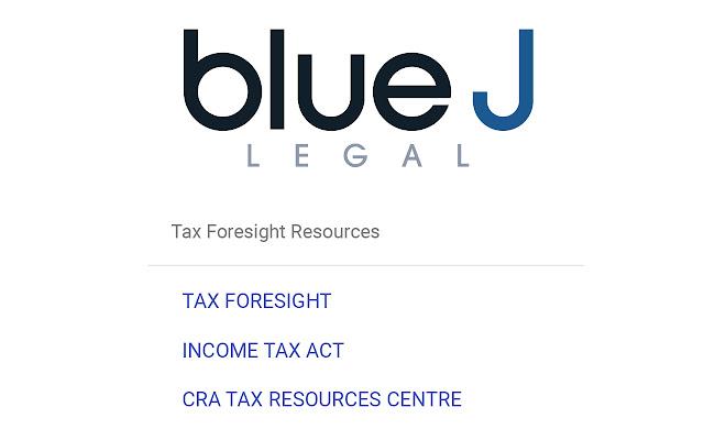 Blue J Legal Bookmark