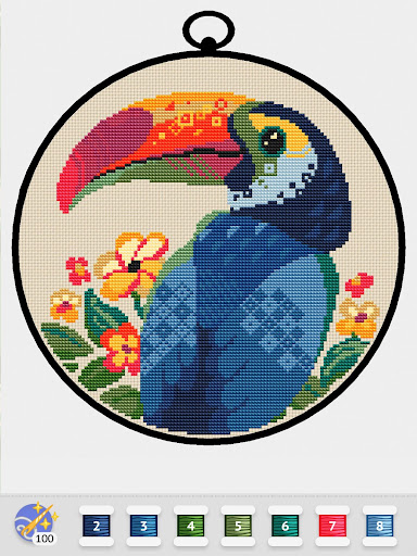 Cross Stitch Club u2014 Color by Numbers with a Hoop apktram screenshots 13