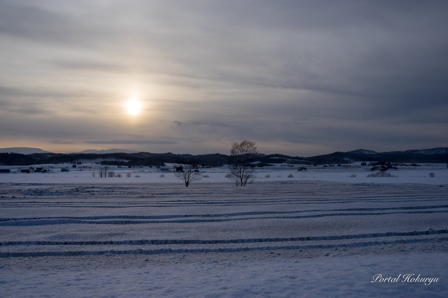 融雪剤散布の景色