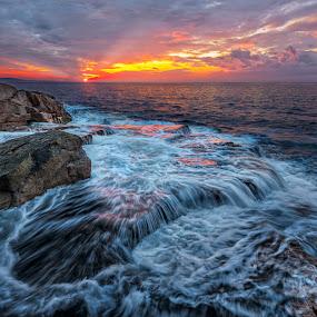 Acadian Sunrise by Rich Reynolds - Landscapes Waterscapes ( water, waterscape, sunrise, seascape, morning, surf, rocks,  )
