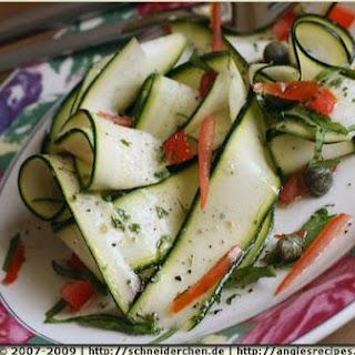 Zucchini Ribbon Caper Salad
