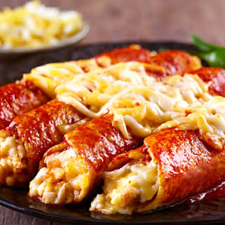 Red Chicken Enchiladas.