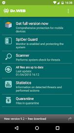 Anti-virus Dr.Web Light Screenshot 2