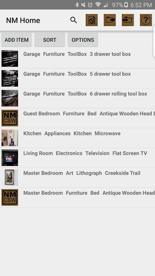 NM Home Inventory Software- screenshot