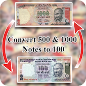 Convert 500,1000 notes to 100