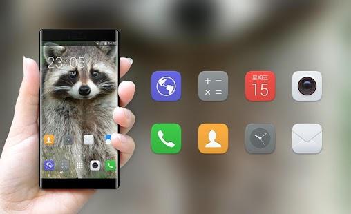 Theme for Xolo A500 Raccoon Wallpaper - náhled