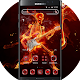 Download Hell fire neon Skull Death Guitar Rock Music Theme For PC Windows and Mac