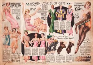 Katalog spodního prádla a doplňků (1933)