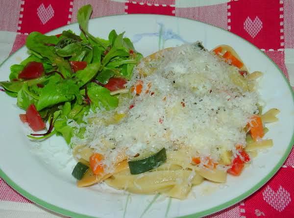 Pam's Pasta Primavera With Black Truffle Butter