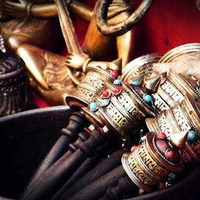 Pray for All by Shishir Pal Singh - Artistic Objects Antiques ( abstract, prayer, buddhism, artistic object, antique )