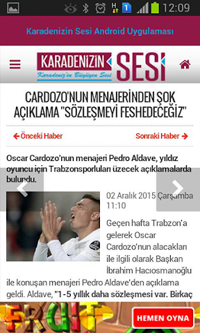android Karadenizin Sesi Screenshot 2