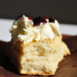 Buttermilk Scones with Clotted Cream.