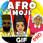AfroMoji Pro - African Afro Emoticon Sticker Black Icon