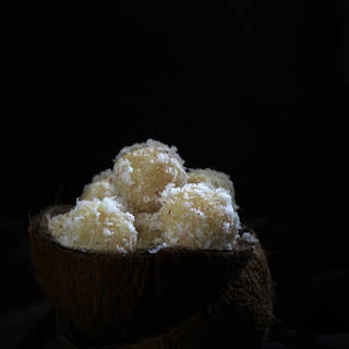 Coconut Ladoo with milkmaid recipe, nariyal ladoo.
