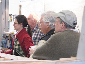 Photo: Sebago Canoe Club members learning about canoe paddle making