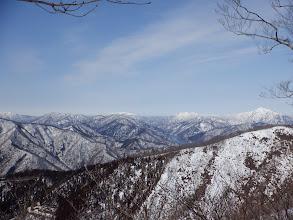 荒島岳、縫ヶ原山方面アップ