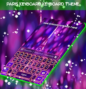 Paris Keyboard Keyboard Theme - náhled