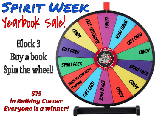 Yearbook Spinning Wheel