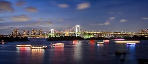 Photo: The Rainbow Bridge as viewed from Odaiba, Japan