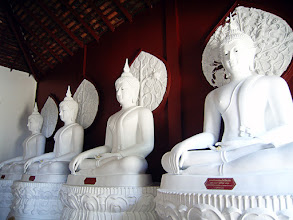 Photo: Four White Buddhas +SacredSunday™ #sacredsunday Curated by +Manfred Berndtgen+Robyn Morrison +Chatchai Rombix+Carolyn St.Charlesand myself +Zen Sunday #zensunday Curated by +Charlotte Therese Björnström+Simon Kitcher+Nathan Wirth:- These magnificent White Buddhas sit in a small room in a temple complex called Wat Palad in Chiang Mai , Thailand. The temple sits halfway up Doi Suthep Mountain and is one that ispredominantlyoverlooked by tourists and the guidebooks because a few kilometers further up there's Wat Phrathat Temple which is one of the most revered temples in the Kingdom. The ThaiGovernmentdidn't register this hidden beauty until 1991 even though the temple grounds are way over 650 years old!  Photography by Justin Hill ©