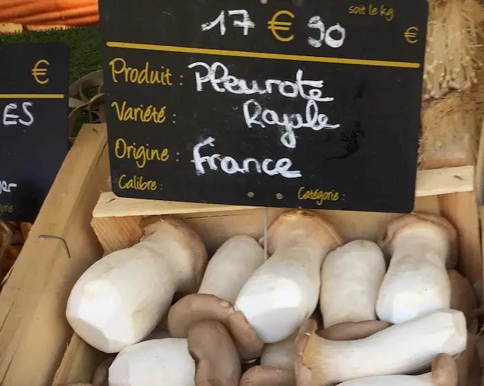 フランスで手に入る日本のキノコエリンギ