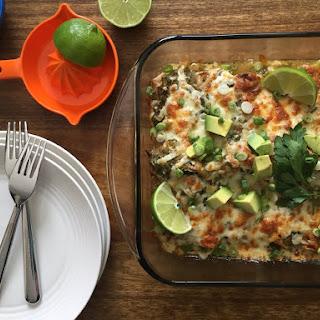 Vegetarian Green Chile Enchiladas.