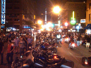 "Photo: ""Motorcycles on Meridian""  Downtown Indy parties hard Friday and Saturday night during Moto GP weekend."