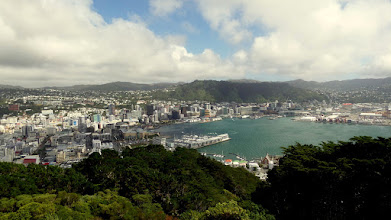 Photo: After a nice half day tour of Wellington, the capital of New Zealand, we went up to the Mt. Victoris Lookout for a view of downtown Wellington.