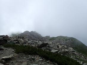 山頂部はガス