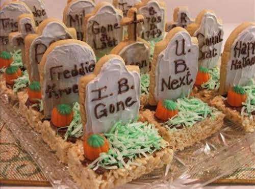 """Halloween Tombstone Treats """"These are adorable and so fun to make! Little..."""