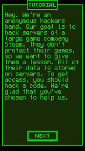 Hacker Game - náhled