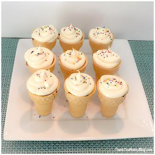 Cupcake Cones.