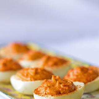 Gochujang (Korean Chili Paste) Deviled Eggs