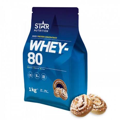 Star Nutrition Whey 80 1kg - Cinnamon Bun