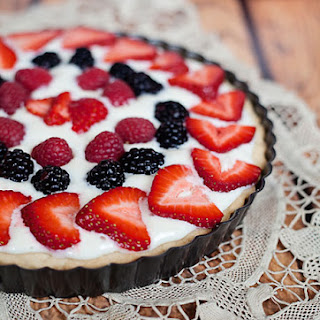 Shortbread, Cream Cheese Fruit Tart