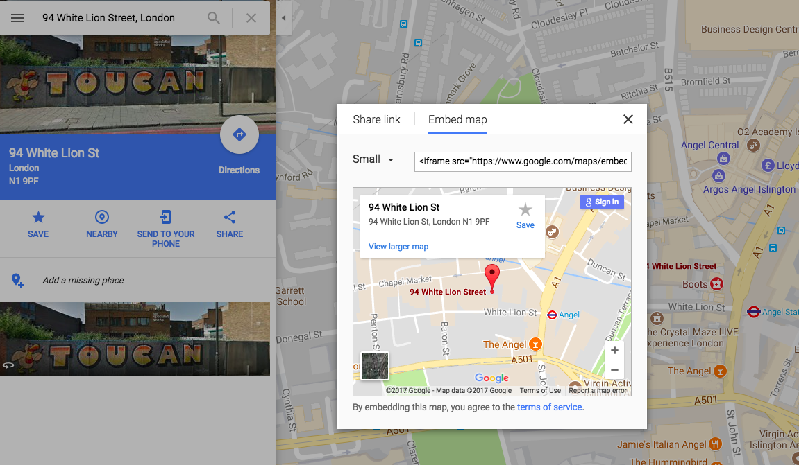 Central London Google Map.How To Embed A Map In Your App Fliplet Success Center