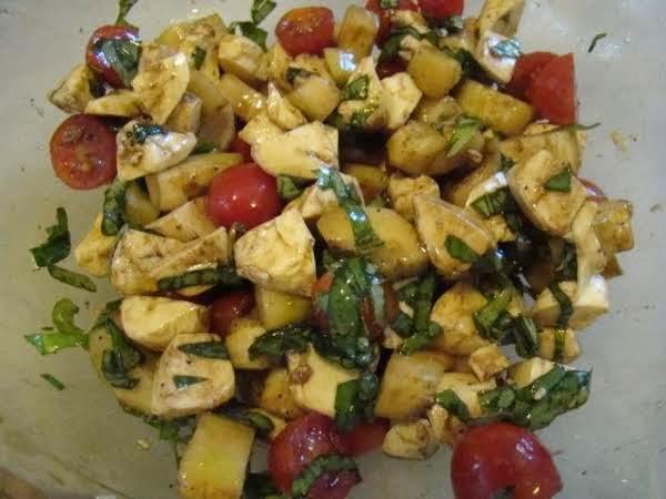 Chopped Caprese Salad With Cucumbers Recipe