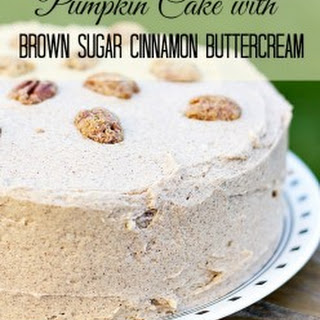 Pumpkin Cake with Brown Sugar Cinnamon Buttercream