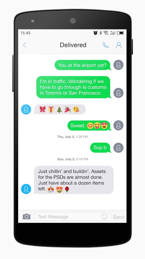 One Message 7 - Emoji, SMS, MMS- screenshot