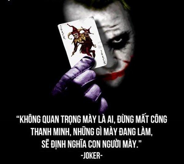 Triết lý hay của Joker