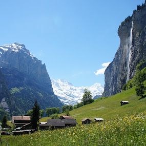 Lauterbrunnen by Diane Dunn - Landscapes Mountains & Hills