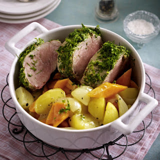 Herb Coated Pork Tenderloin with Vegetables