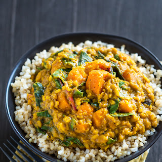 Lentil, Chard & Sweet Potato Curry