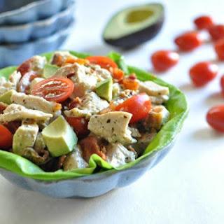 BLTA Pesto Chicken Salad – Low Carb, Gluten Free, Paleo.