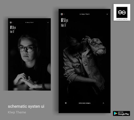 Schematic System UI Klwp/Kustom ss1