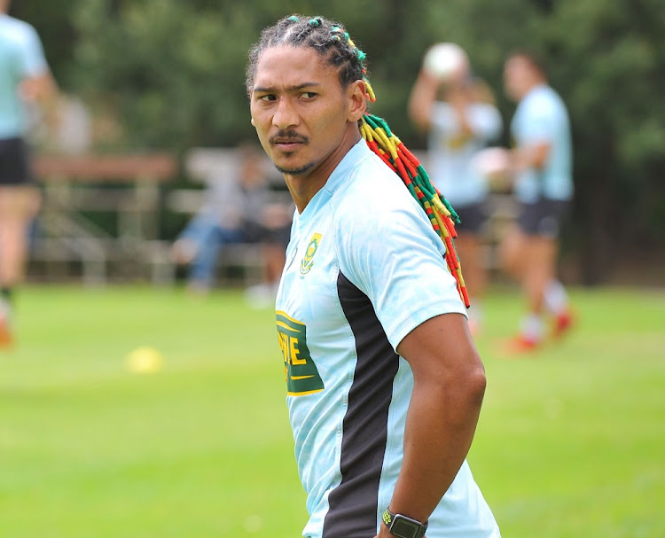 Justin Geduld during the Springbok Sevens training session in Cape Town, December 4 2018. Picture: ZIYAAD DOUGLAS/GALLO IMAGES