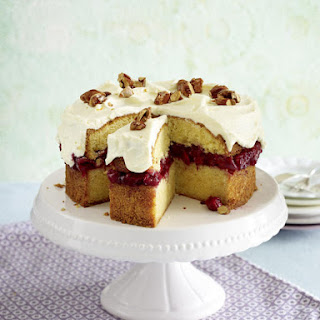 Almond and Cherry Cake with Cream Cheese Frosting