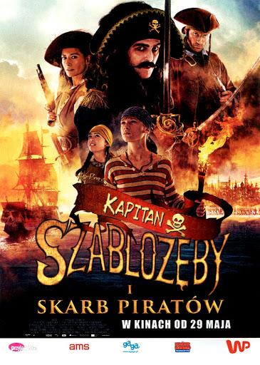 Przód ulotki filmu 'Kapitan Szablozęby i Skarb Piratów'