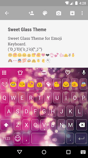 Sweet Glass Emoji Keyboard